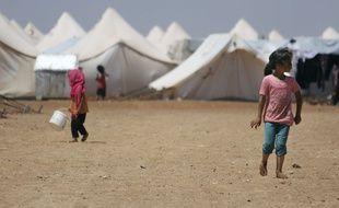 Des enfants dans un camp de réfugiés dans la province d'Alep.