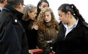 Ahed Tamimi, 16 ans, devant le tribunal militaire, le 1er janvier 2018.