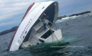 Un bateau d'observation des baleines a sombré au Canada, faisant au moins quatre morts, le 25 octobre 2015.