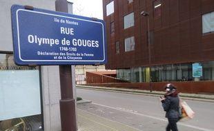 La rue Olympe de Gouges, sur l'île de Nantes