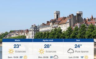 Météo Besançon: Prévisions du vendredi 18 juin 2021