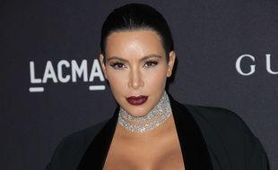 Kim Kardashian en novembre 2015 à Los Angeles.