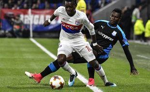 Bertrand Traoré, ici avant sa blessure au genou en début de rencontre face à Limassol jeudi.