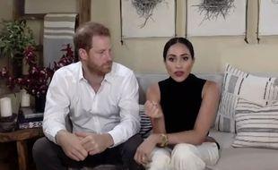 La duchesse de Sussex Meghan Markle et son mari, le prince Harry