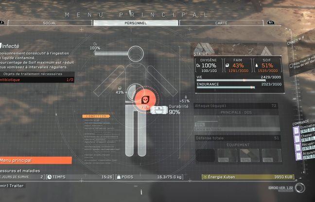 Dans Metal Gear Survive, une simple bactérie ingérée avec de l'eau croupie peut mettre une terme à votre aventure...