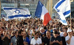 Des manifestations pro-israéliens à Marseille, le 27 juillet 2014.