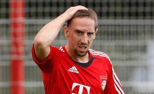 L'attaquant du Bayern Munich, Franck Ribéry, lors d'un entraînement, le 25 juillet 2010 à Munich.