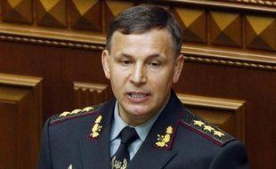 Le nouveau ministre ukrainien de la Défense Valeriy Geletey lors d'un discours au parlement, le 3 juillet 2014