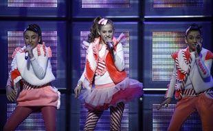 Le groupe géorgien Candy, vainqueur de l'Eurovision Junior 2011.