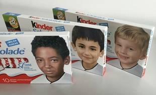 Des barres chocolatées Kinder.