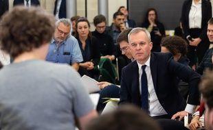 François de Rugy, le 27 février 2019 lors du grand débat national organisé au sein de son ministère.