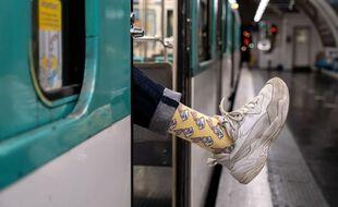 Les chaussettes Serge Le Lapin de la RATP.