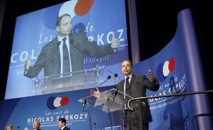 """Jean-Francois Copé lors d'une réunion de l'association """"Les Amis de Sarkozy"""" le 20 février 2013 à Paris"""