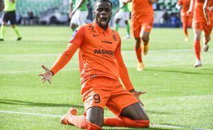 Stephy Mavididi a inscrit le seul but du match ce dimanche à Saint-Etienne. PHILIPPE DESMAZES