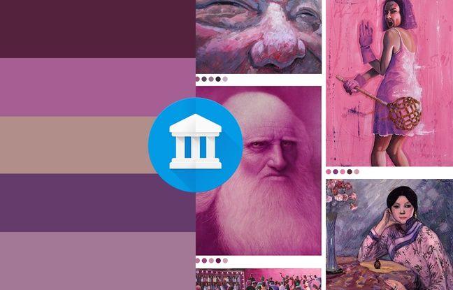 Art Palette mobile colors. Google Art & Culture Machine learning experiments.