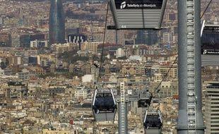 Le téléphérique urbain de Barcelone.