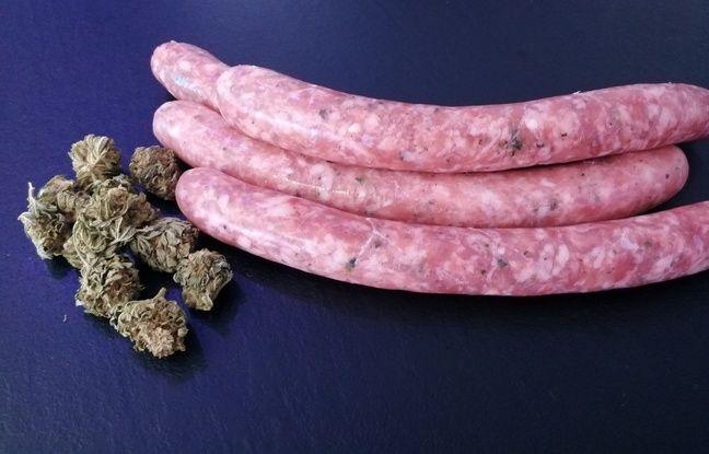 Les saucisses « Ouidi », à base de CBD, créées par Luca Morand, boucher à Marseille.