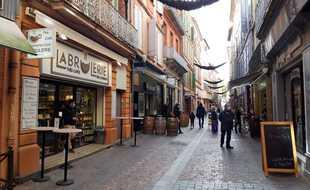Dans le centre-ville de Montauban, le 4 novembre 2020.