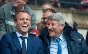 Emmanuel Macron et Philippe de Villiers au Puy du Fou, le 19 août 2016.