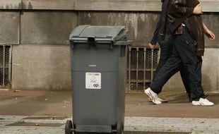 Illustration d'un container à poubelles.