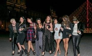 Kim Kardashian et ses copines pour son enterrement de vie de jeune fille à Paris le 22 mai 2014