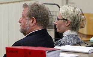 Procès en correctionnelle de l'ancien députe socialiste du Pas-de-Calais Jean-Pierre Kucheida et de sa fille Marie pour abus de biens sociaux, au tribunal de Douai en avril 2013.