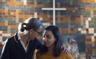 Hayarpi Tamrazyan (à droit) et sa famille avaient trouvé refuge dans une église de La Haye pour échapper à l'expulsion.