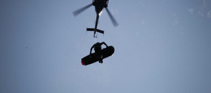 Photo d'illustration d'une intervention du peloton de gendarmerie de haute montagne (PGHM).