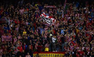 Les supporters de l'Atletico Madrid le 1er novembre 2014.