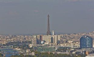 Illustration de la pollution à Paris le mercredi 17 septembre 2014.