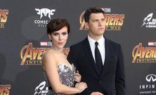 L'actrice Scarlett Johansson et son nouveau compagnon Colin Jost.