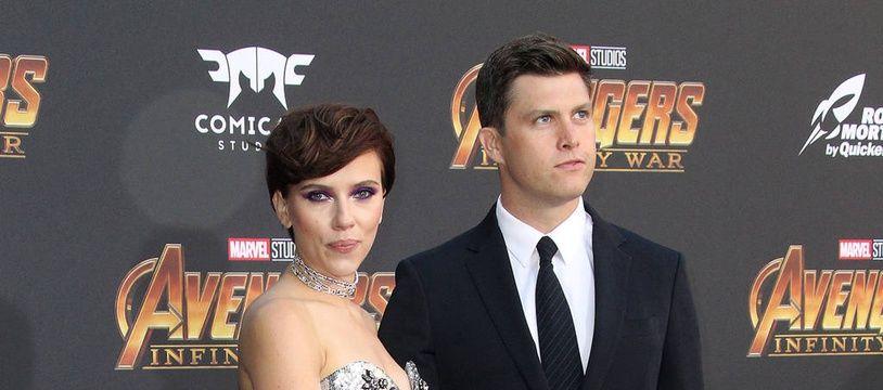 L'actrice Scarlett Johansson et son nouveau compagnon Colin Jost