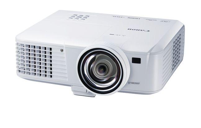 Le vidéoprojecteur Canon LV-WX310ST, un WXGA à focale courte vendu moins de 700 euros.