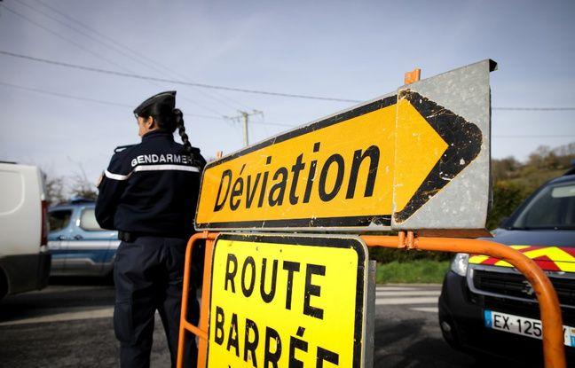 Un contrôle de gendarmerie près de Branville (Calvados)