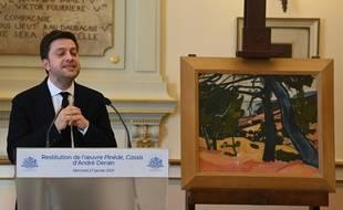 Le maire de Marseille Benoît Payan a officiellement rendu un tableau de Derain spoilé sous l'Occupation