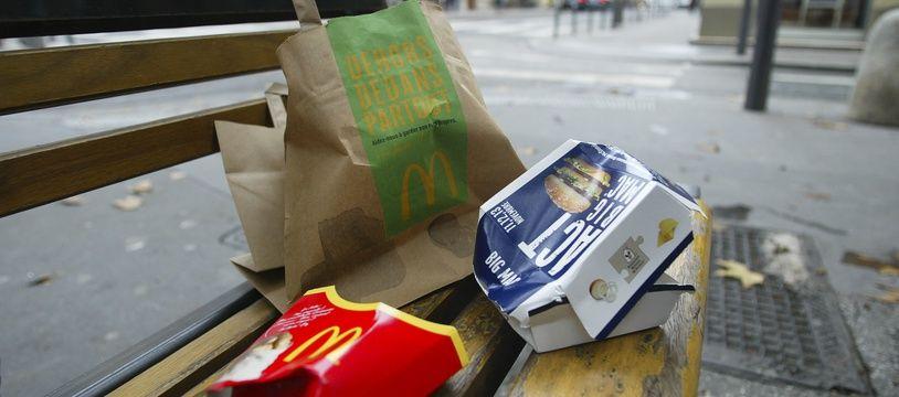 A Strasbourg, McDonald's participera au ramassage des déchets (Illustration).