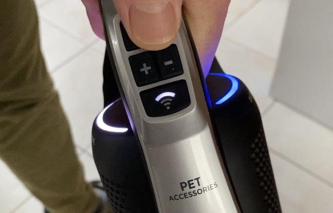 Le H-Free 500 d'Hoover se connecte en Wifi à un smartphone.