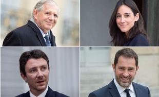 Quatre membres du gouvernement d'Edouard Philippe: Jacques Mézard, Brune Poirson, Benjamin Griveaux et Christophe Castaner.