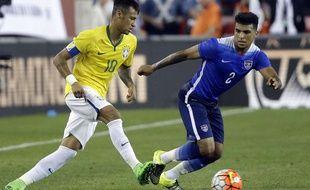 Neymar lors de Etats-Unis-Brésil le 8 mars 2015.