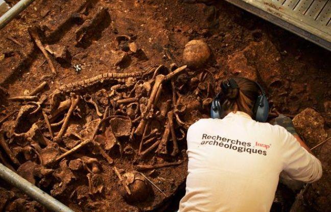 La sépulture a été mise au jour près de Montpellier.