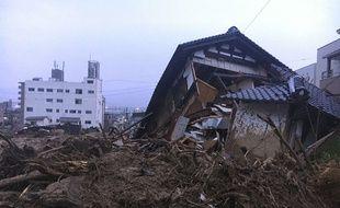 Une photo du village de Kuchita-Minami, dans la préfecture de Hiroshima au Japon, après les pluies torrentielles du 7 et 8 juillet 2018.