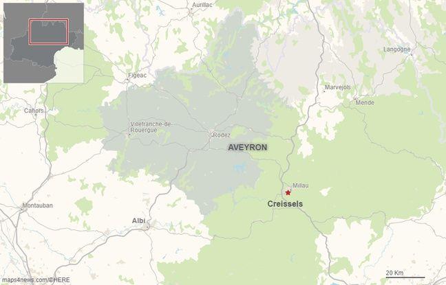 La commune de Creissels en Aveyron.