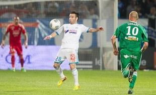Mathieu Valbuena lors du match entre Marseille et Saint-Etienne le 24 septembre 2013.