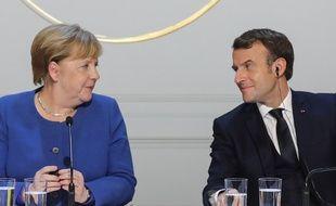 Angela Merkel et Emmanuel Macron, le 9 décembre 2019.