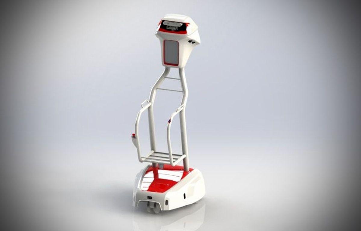 Le robot wiiGO fabriqué par Follow Inspiration. – Auchan Retail