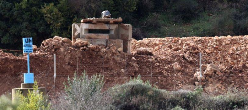 Un avant-poste de l'armée israélienne près du village libanais de Ramyeh situé à 800 mètres du territoire israélien