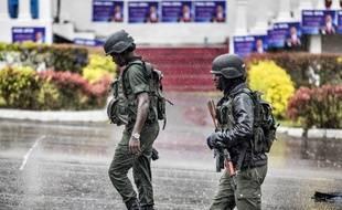 Des soldats assurent la sécurité au Cameroun (image d'illustration).
