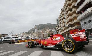 Fernando Alonso lors des essais libres du Grand Prix de Monaco
