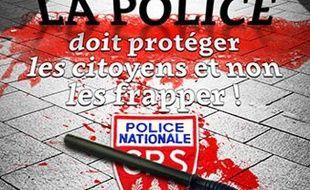 L'affiche de la CGT contre les violences policières publiée le 16 avril 2016 sur le site infocomcgt.fr.