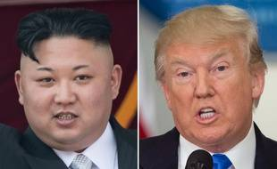Kim Jong-Un et Donald Trump. Montage photo.AFP PHOTO / SAUL LOEB AND Ed JONES